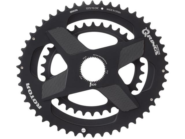 Rotor Aldhu Direct-Mount Plato Doble oval, negro